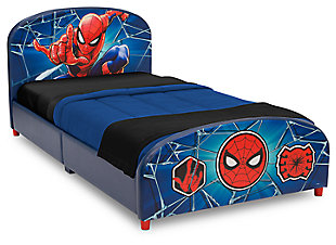 Delta Children Marvel Spider-Man Upholstered Twin Bed, , large
