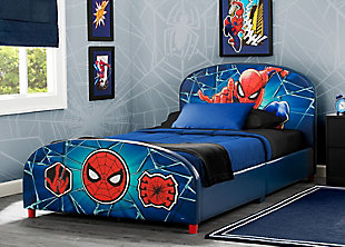Delta Children Marvel Spider-Man Upholstered Twin Bed, , rollover