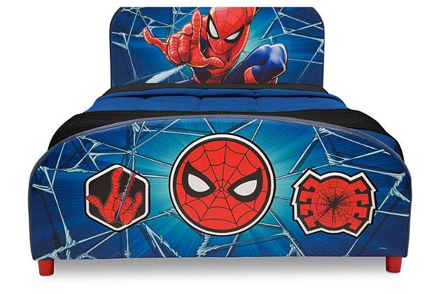 Delta Children Marvel Spider-man Upholstered Twin Bed, , large