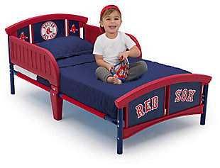 Delta Children MLB Boston Red Sox Plastic Toddler Bed, , large