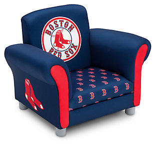 Delta Children MLB Boston Red Sox Kids Upholstered Chair, , large