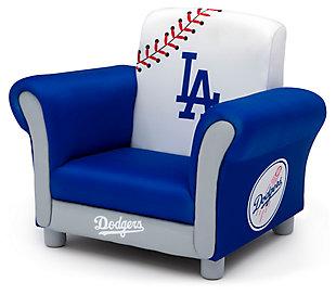 Delta Children MLB Los Angeles Dodgers Kids Upholstered Chair, , large