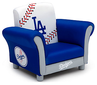Delta Children MLB Los Angeles Dodgers Kids Upholstered Chair, , large