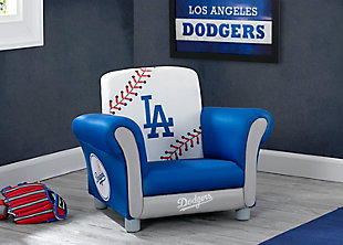 Delta Children MLB Los Angeles Dodgers Kids Upholstered Chair, , rollover