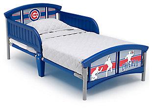 Delta Children MLB Chicago Cubs Plastic Toddler Bed, , large