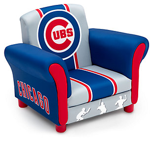 Delta Children MLB Chicago Cubs Kids Upholstered Chair, , large