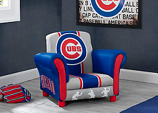 Delta Children MLB Chicago Cubs Kids Upholstered Chair, , rollover