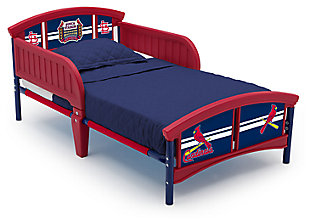 Delta Children MLB St. Louis Cardinals Plastic Toddler Bed, , large