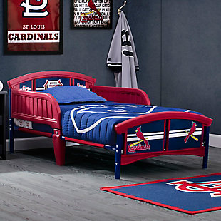 Delta Children MLB St. Louis Cardinals Plastic Toddler Bed, , rollover