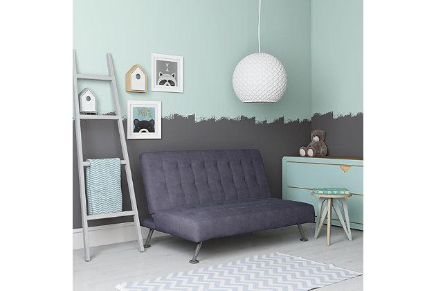 Kids Sofa Futon, Blue, large