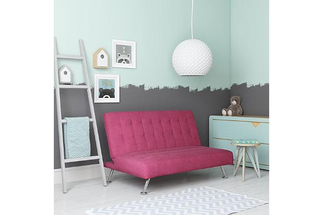 Kids Sofa Futon, Pink, large