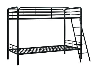 Kids Twin over Twin Metal Bunk Bed, Black, large