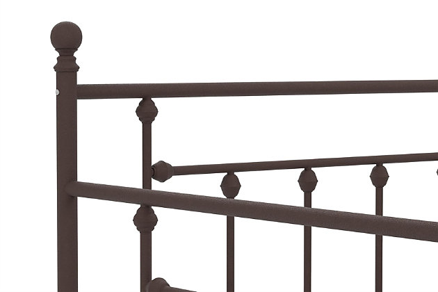 Kids Full Size Daybed with Twin Size Trundle, Bronze Finish, large