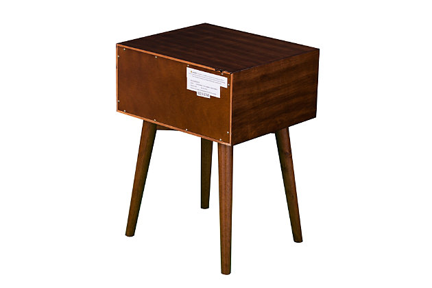 Two Tone Nightstand with Tapered Legs, , large