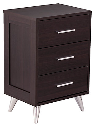 Three Drawer Nightstand, , large