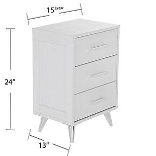 Three Drawer Nightstand, , large