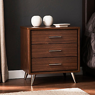 Two Tone Three Drawer Nightstand, , rollover