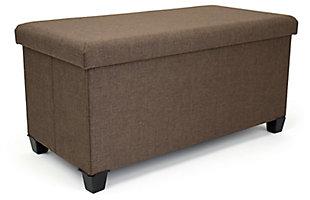 Kids Rectangular Storage Upholstered Bench, , large