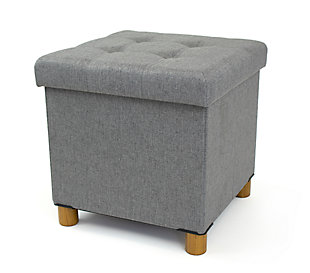 Kids Collapsible Storage Cube with Tray, , large