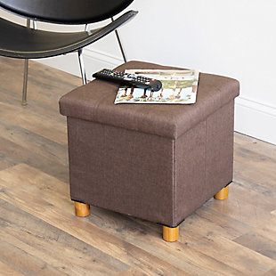 Kids Collapsible Storage Cube with Tray, , rollover