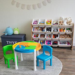 Kids Journey Extra Large Toy Storage Organizer with 20 Bins, , large