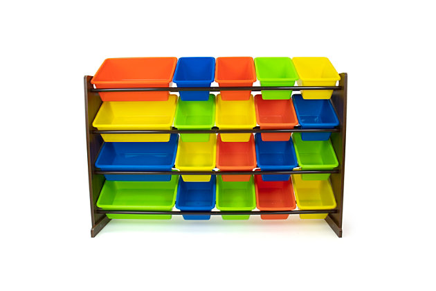 Kids Forest Extra Large Toy Storage Organizer with 20 Bins, , large
