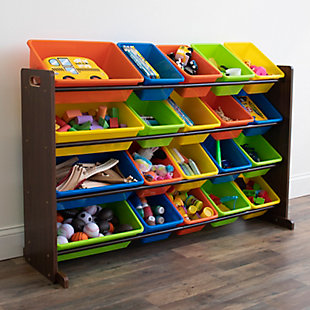 Kids Forest Extra Large Toy Storage Organizer with 20 Bins, , rollover