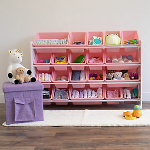 Kids Charlotte Extra Large Toy Storage Organizer with 20 Bins, , rollover