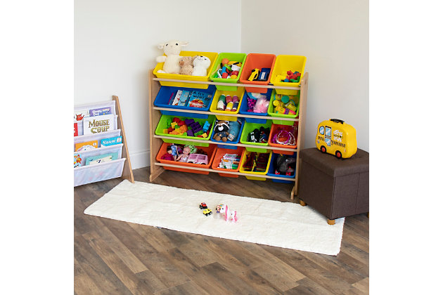 Kids Pacific Super Sized Toy Storage Organizer with 16 Bins, , large