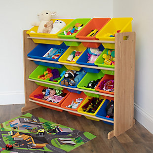 Kids Pacific Super Sized Toy Storage Organizer with 16 Bins, , rollover