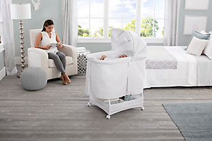 Simmons Kids Silent Auto Gliding Deluxe Bassinet, , rollover
