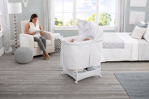 Simmons Kids Silent Auto Gliding Deluxe Bassinet, , large