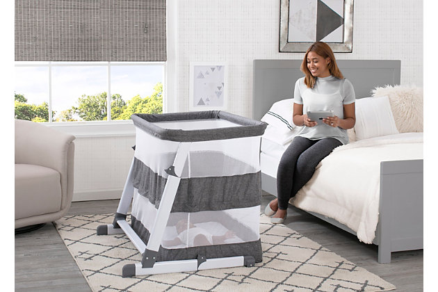 Simmons Kids Room2Grow Newborn Bassinet to Infant Sleeper, , large