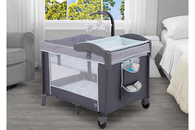 Delta Children Portable Baby Play Yard, Removable Bassinet, Changing Table, , large