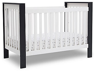 Delta Children Miles 4-in-1 Convertible Crib, White/Black, large