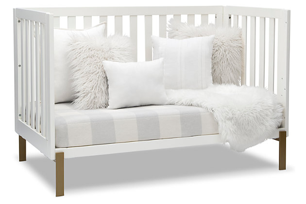 Delta Children Hendrix 4-in-1 Convertible Crib, White, large