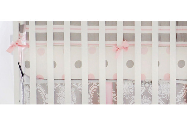 My Baby Sam Olivia Rose Crib Sheet, , large
