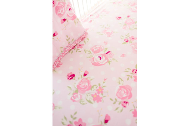 My Baby Sam Rosebud Lane Crib Sheet, , large