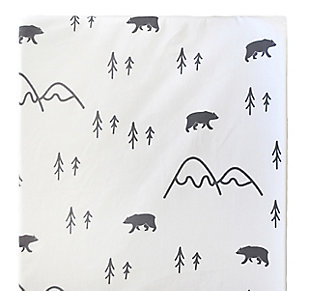 My Baby Sam Little Black Bear Changing Pad Cover, , rollover