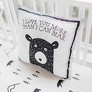 My Baby Sam Little Black Bear Throw Pillow 14x14, , rollover