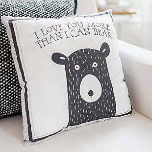 My Baby Sam Little Black Bear Throw Pillow 14x14, , large
