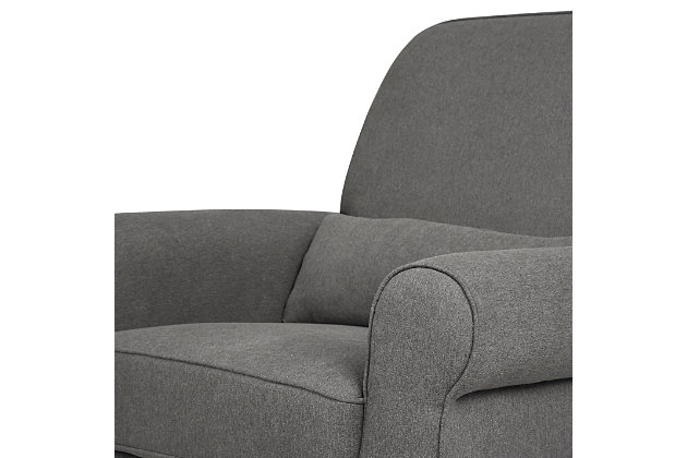 Davinci Ruby Recliner and Glider, Charcoal, large