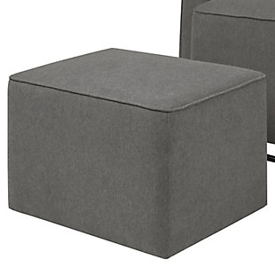 Davinci Olive Glider and Ottoman, Charcoal, large