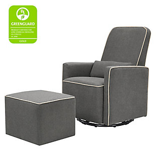 Davinci Olive Glider and Ottoman, Gray, large