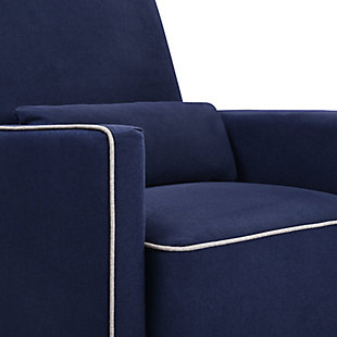 Davinci Olive Glider and Ottoman, Blue, large