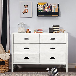 Davinci Fairway 6 Drawer Double Dresser, White, rollover