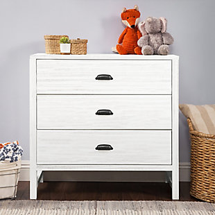 Davinci Fairway 3 Drawer Dresser, White, rollover