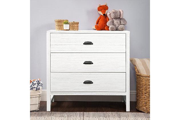 Davinci Fairway 3 Drawer Dresser, White, large