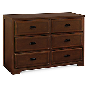 Davinci Charlie Homestead 6 Drawer Double Dresser, Brown, large