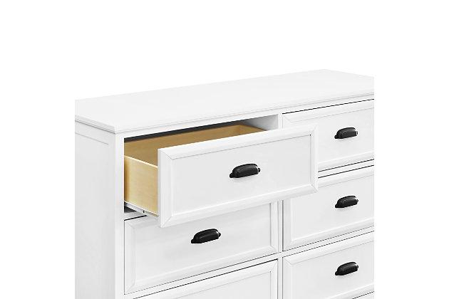 Davinci Charlie Homestead 6 Drawer Double Dresser, White, large